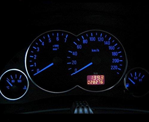 LED Tachobeleuchtung Opel Astra G - Zafira - Agila (blau, rot, grün, weiß) Blauer Tacho (Grün)