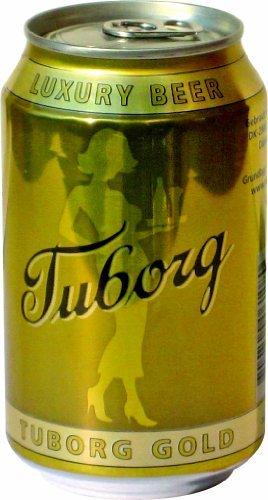 Tuborg Gold 5,6% 24x0,33 ltr. dänisches Bier inkl. Pfand