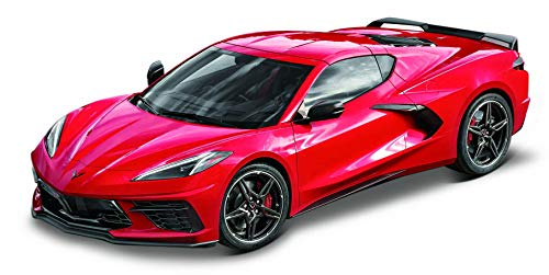 Maisto Chevrolet Corvette Stingray Coupé '20: Modellauto im Maßstab 1:18, Türen, Kofferraum und Motorhaube zum Öffnen, lenkbar, 34 cm, rot (531447)