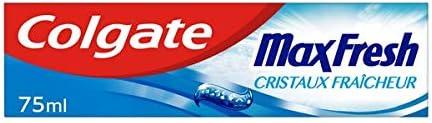 COLGATE - Dentifrice Fraîcheur Max Fresh Menthe Douce- Aux Cristaux Fraîcheur - Sensation fraîcheur 10x plus longue -...