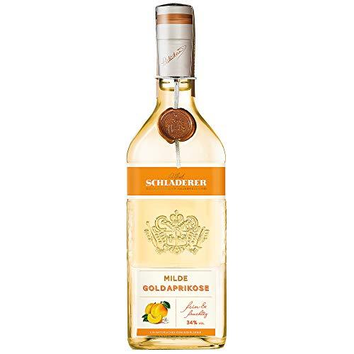 Schladerer Milde Goldaprikose, feiner Digestif aus dem Schwarzwald, mild und süßfruchtig aus sonnengereiften Aprikosen (1 x 0.7 l)