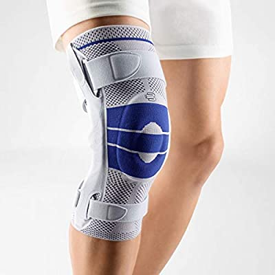 Bauerfeind - GenuTrain S - Knee Support - Extra Stability to Keep The Knee in Proper Position - Right Knee - Size 4 - Color Titanium by Bauerfeind