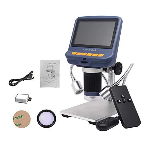 Seasaleshop Digitale LCD-microscoop, 4,3 inch HDMI LCD microscoop, robuuste instelbare USB-lichtmicroscoop met HD-led-scherm