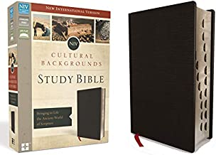 NIV, Cultural Backgrounds Study Bible, Bonded Leather, Black, Red Letter Edition, Thumb Indexed: Bringing to Life the Ancient World of Scripture