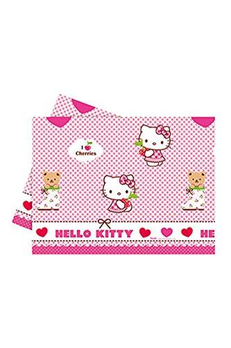 Procos Tovaglia Plastica 120x180 cm Hello Kitty Hearts, Multicolore, 5PR81795