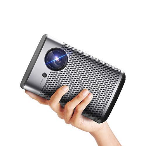XGIMI Halo Smart Miniプロジェクター、1080P FHD 800 ANSI Lumenポータブルプロジェクター、Android TV 9.0、サポート2K / 4K、ポータブルWifi / Bluetooth Harman / Kardonスピーカー、Google Playからの4000以上のアプリ