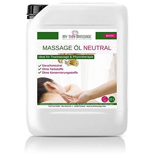 Kitama Massageöl Neutral & Soft 10-Liter MyThaiMassage für Physiotherapie Thai-Massage Spa Wellness
