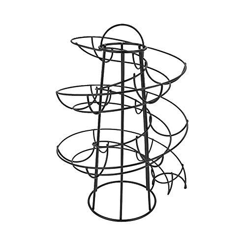DAYOLY - Dispensador de huevos en espiral para cocina, almacenamiento de huevos, soporte para hasta 24 huevos