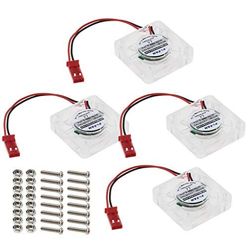 4X DC 5V 0.25A Ventilador de Radiador Refrigeración LED Azul Luz Brushless CPU Calor Conector 2 Pin Compatible para Raspberry Pi 4