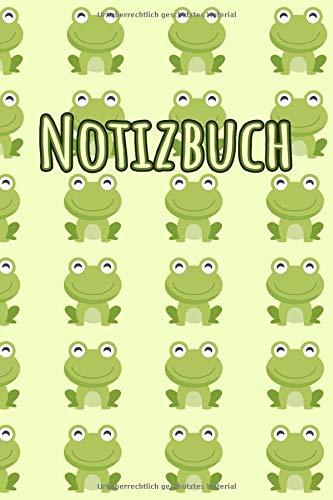 NOTIZBUCH: Süßes Notizbuch | Motiv: Frösche | 110 Seiten, liniert | Format 6x9 DIN A5 | Soft cover matt |