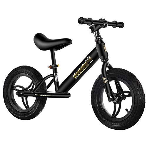 Lihgfw Kinder Balancen-Fahrrad, Keine Fahrräder, Kinder Zweirad-Baby-Schiebe-Scooter, Junge und Mädchen-Spielzeug-Auto-Wettbewerb, Sportkinderwagen 2-6 Jahre alt, Schwarz (Color : Schwarz)