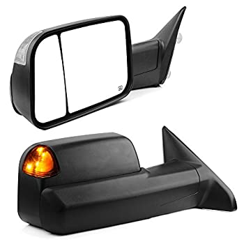 YITAMOTOR Towing Mirrors Compatible with Dodge Ram 2009-2018 Ram 1500 2010-2018 Ram 2500 3500 with Power Heated Led Turn Signal Light Puddle Lamp