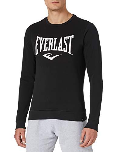 Everlast Sports Felpa con Cappuccio da Skateboard, Noir, S Regular Uomo