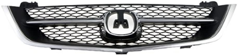 CarPartsDepot 4D Grill Grille Assembly Front Chrome Black Ac1200107 Ac1200107