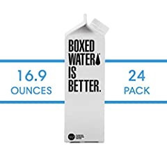 Buying from sellers other than Boxed Water is Better increases your risk of damaged goods. Better than bottled water. Our boxes are made of paper from sustainable well-managed forests. Purified water via an 8-step process includes reverse osmosis, ca...