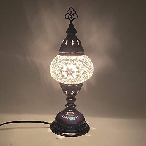 GAL Türkische Mosaik Tischlampe - 5 'x 13,5' - MB2 - Wei?