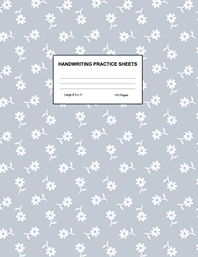 Handwriting Practice Sheets: Cute Blank Lined Paper Notebook for Writing Exercise and Cursive Worksheets - Perfect Workbook for Preschool, ... 3rd and 4th Grade Kids - Product Code A4 5164