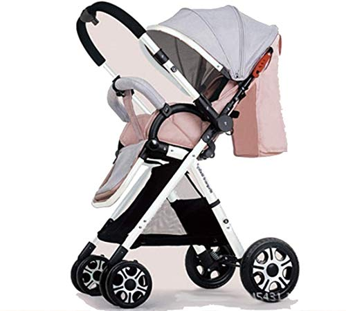 For Sale! Ranzorh Foldable Stroller high Landscape Stroller Dual-Purpose Stroller can sit and Lie Fo...