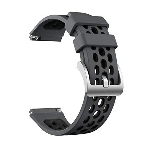 YONGLI Sport Silicone Reloj Correa para Huawei Watch GT 2E SmartWatch Reemplazo de la Banda para Huawei GT2E GT2 E Muñeca 22mm Pulsera Cinturón (Color : Gray Black, Size : For GT2e)