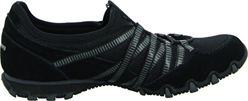 Skechers Bikers Hot-Ticket, Damen Sneakers, Schwarz (BKCC), 38 EU - 7