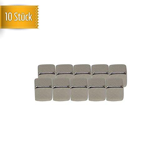 10Pieza de Cubo de neodimio Imanes, extrafuertes magnetisierung N52–Útil Imanes 5x 5x 5mm, Muy Alta Resistencia//Oficina//Combi//Whiteboard//Escuela//Cocina de magnético Mate®