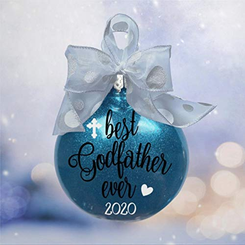 BYRON HOYLE Godfather Christmas Ornament Present Ideas for GodfatherGodfather Present Godfather Present Godfather Keepsake Ornament Ornament for Godfather Tree Ball Ornaments Shatterproof Xmas Decor