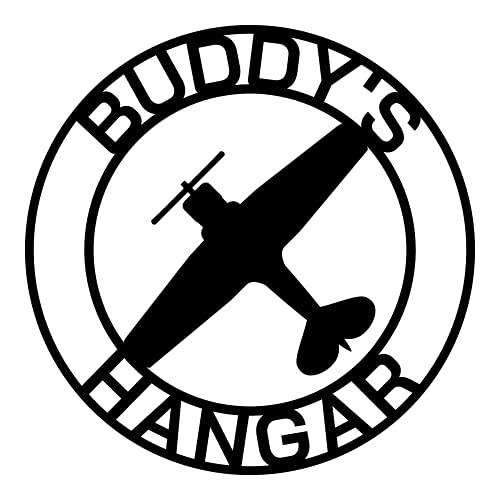 Airplane Hangar Sign, Personalized Pilot Name Sign, Custom Aviation Lover, Man Cave Sign, Airplane Sign, Personalized Airplane Sign, Plane