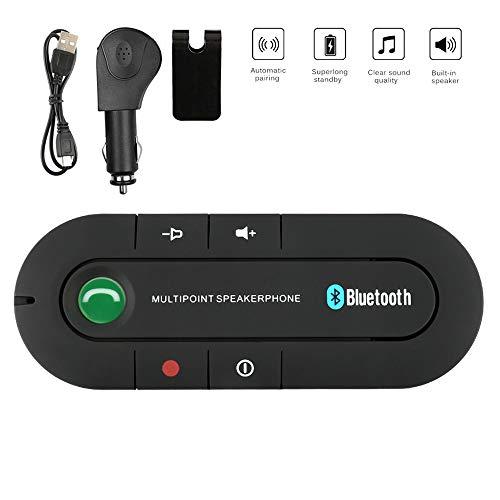 Kit Vivavoce Bluetooth per Auto Senza Fili per Altoparlante con Controllo Vocale Auto Bluetooth per Altoparlante Kit Vivavoce Bluetooth per Smartphone connettere Wireless Viva voce