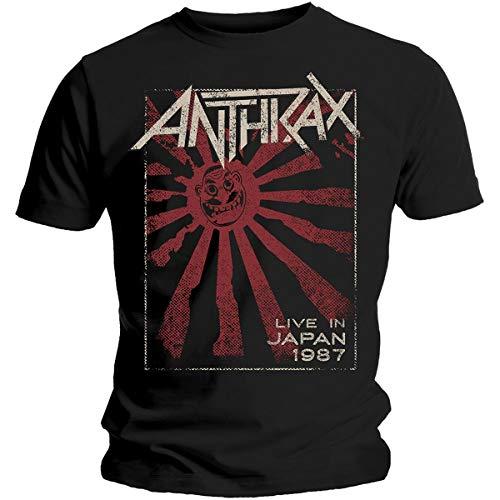 Unbekannt Live in Japan Herren-T-Shirt, kurzärmelig Gr. L, Schwarz