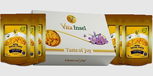 6 x Safran Pasta in Champignon-Sauce von VitaInsel mit Stimmungsaufhellender Wirkung | Gesund | Geschmackvoll
