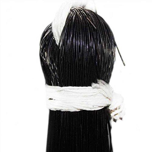 Französischer Draht für Schmuckherstellung und Stickzwecke, 1 mm, glatte Oberfläche, schwarz (100 Gramm)