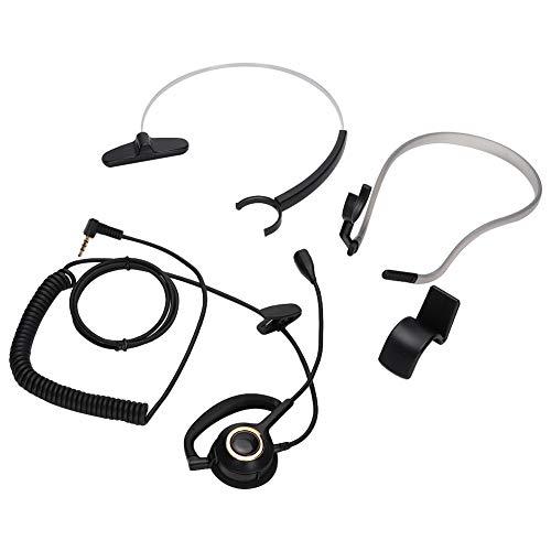 Bakmonterad Bullerreducering Call Center Kundtjänst Headset med Mikrofon, Flexibel, Bekväm och Hållbar, Lämplig för Call Center-telefoner