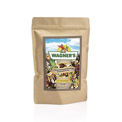 Wagner's ® | Graupapageienfutter - 1 kg Saaten & Obst für Graupapageien