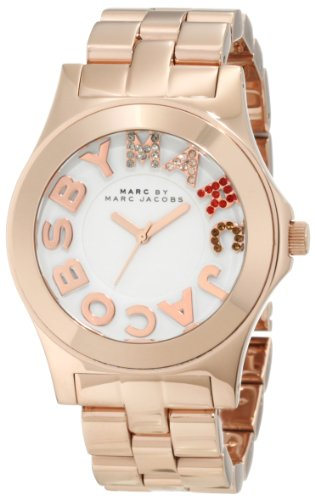 Marc by Marc Jacobs Rose Gold Rivera Logo Women