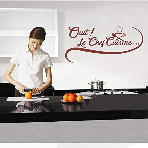 Aufkleber Französisch Chef Gourmet Vinyl Wandtattoos abnehmbare Tapete Wandbild Tapete Kunst Küche Fliesen Aufkleber Home Dekoration 58X118cm