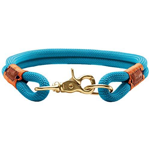 HUNTER Oss Halsung für Hunde, Tau, fellschonend, maritim, nautisch, 50 (M-L), petrol