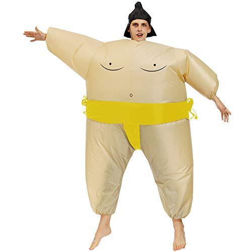 Nlight Aufblasbares Sumo Kostüm Fatsuit Sumo Ringer Yokozuna Fat Suit Anzug Sumo Ringer Erwachsene Kinder Verkleidung Fasching Karneval