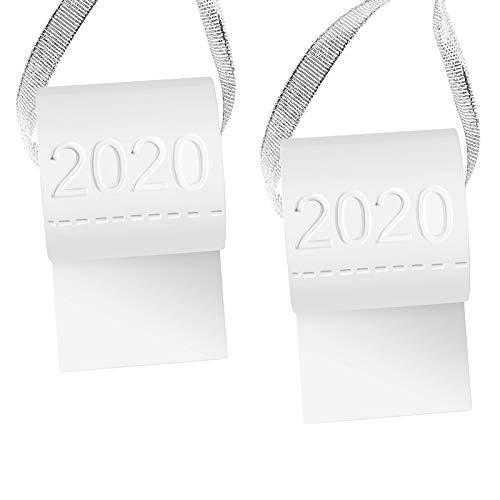 Ornamento d'Attaccatura dell'Albero di Natale 2020 Carta Igienica Design Quarantena di Natale 2020 Decorazioni Kit Nome Famiglia, 2 Set di Decorazioni Natalizie DIY per Membri della Famiglia