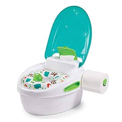 Summer Step by Step Potty, Neutral – 3-in-1 Potty Training Toilet – Features Contoured Seat, Flushable Wipes Holder and Toilet Tissue Dispenser by Summer