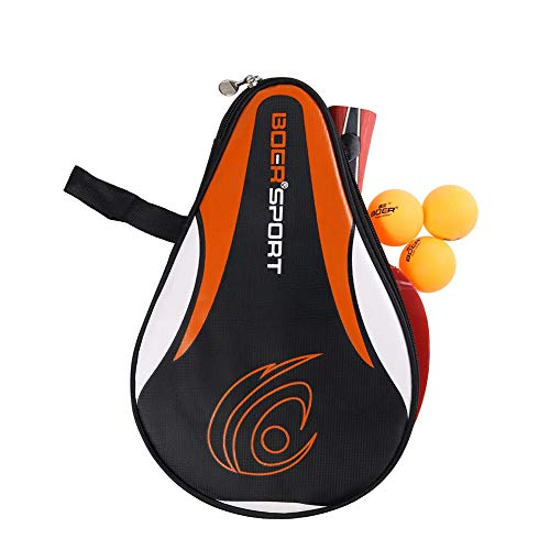 Coherny Portable Table Tennis Racket Bag Waterproof Table Tennis Racket Cover Paddle PingPong Paddle Pouch with Ball...