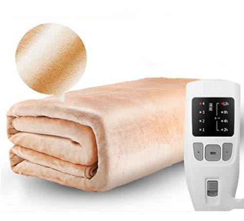 manta calefactada doble, 180 cm de seguridad Controlador de temporización de doble...