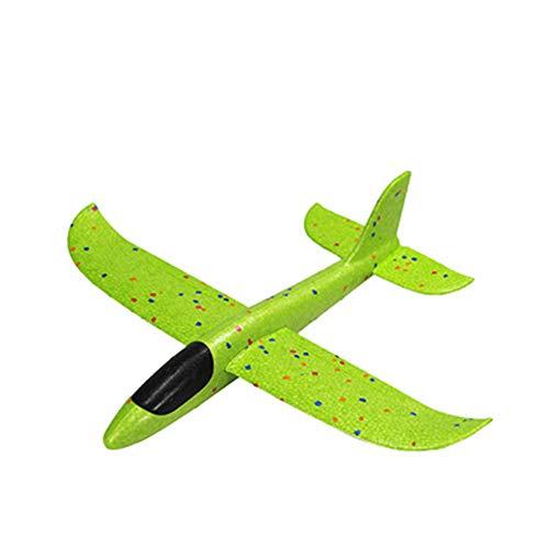 MYKK Avion Planeador 48cm 36cm Lanzando Aviones De Espuma, 12.5 Pulgadas Modo De Vuelo Planeador Inercia Planes Modelo, Aviones para Niños Deporte Al Aire Libre 36cm Verde 1pcs