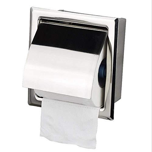 YASEking In Parete Rotolo di Carta di Box con la Copertura Impermeabile Titolare Carta igienica Compatible with Bagno Cucina in Acciaio Inossidabile Accessorio Sanitario