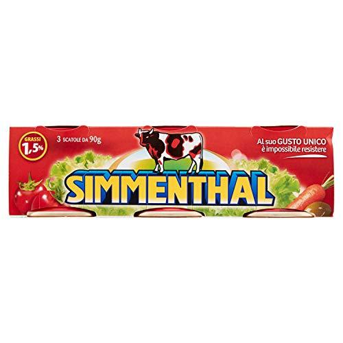 Simmenthal - Piatto Pronto di Carni Bovine, in Gelatina Vegetale - 4 pezzi da 270 g [1080 g]