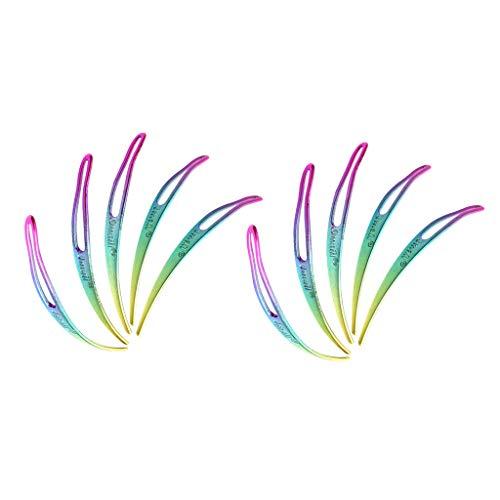 Harilla 10 Pièces Aiguilles à Emboîter pour Serrures, Dreadlocks, Serrures, Crochets, Démarrage Et Entretien Faciles de Vos Verrous Interlocking Tool