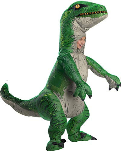 Rubies Child's Inflatable Dinosaur Costume, Velociraptor, Small