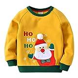 Enfant Sweat-Shirts Noël Pull-Over Enfant Épais T-Shirt à Manches Longues Père Noël, Bleu Royal 2-3 Ans