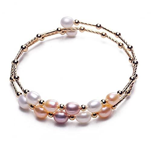 WLLLTY Ladies Bracelet Ladies Pearl Jewelry Bracelet Simple Design Ladies Pearl Bracelet Gift