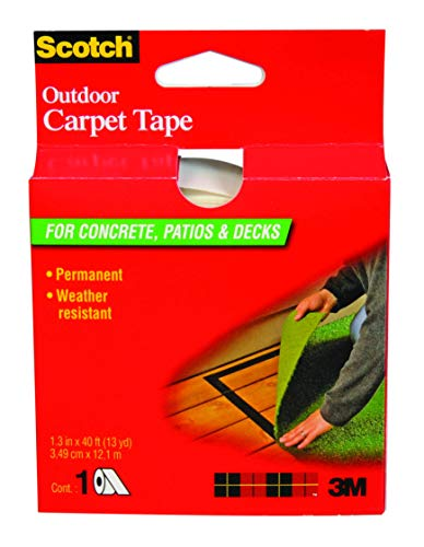 Scotch Outdoor Carpet Tape CT3010, 1.375 in x 13.3 yd