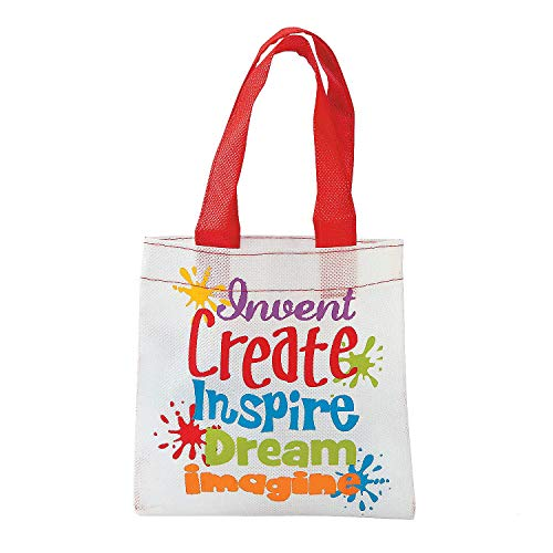 Mini Little Artist Tote Bags - 12 ct